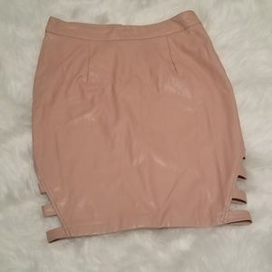 Leather Skirt pink- charlotte Russe